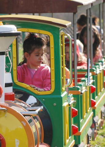 Kids on Toy Train